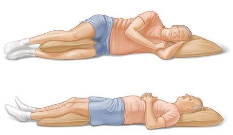 ležanie pri bolesti chrbtice